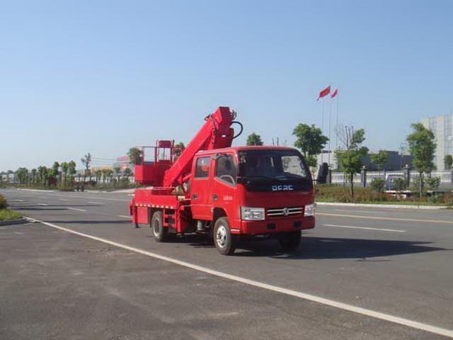 国五东风14米伸缩臂高空作业车
